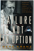 Books:Americana & American History, Gene Kranz. SIGNED. Failure is Not an Option: Mission Controlfrom Mercury to Apollo 13 and Beyond. New York: Simon ...