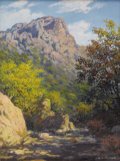 Texas:Early Texas Art - Regionalists, E. L. BOONE (1883-1952). Untitled Big Bend Scene. Oil on masonite.16in. x 12in.. Signed lower right. While the location o...