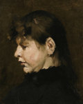 Paintings, WILLIAM MERRITT CHASE (American 1849 - 1916). Portrait of a Lady. Oil on board. 15 x 12in.. PROVENANCE:. Private Colle...