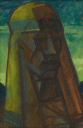 Fine Art - Painting, American:Modern  (1900 1949)  , EMIL BISTTRAM (American 1895 - 1976). The Chieftan, 1920s.Pastel. 17-1/2 x 12 inches. Signed lower right (under mat). ...