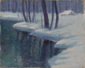 Texas:Early Texas Art - Impressionists, W. FREDERICK JARVIS (1898-1966). Winter Evening. Oil on canvas. 11in. x 14in.. Unsigned, but titled verso in artist's ha...