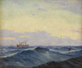 Texas:Early Texas Art - Impressionists, W. FREDERICK JARVIS (1898-1966). Untitled Seascape. Oil on canvas.10in. x 12in.. Signed lower left. Provenance:. Acquired...