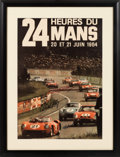Transportation:Automobilia, Original 1964 Le Mans Poster Autographed By Carroll Shelby, DanGurney, And Bob Bondurant...