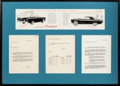 Transportation:Automobilia, Original Ford Internal Letters Documenting Naming Of New Sports Car'The Ford Thunderbird'...