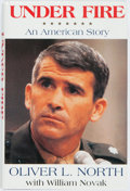 Books:Biography & Memoir, Oliver North and William Novak. SIGNED PRESENTATION BOOKPLATE.Under Fire: An American Story. New York: Harper Colli...