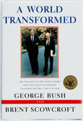 Books:Americana & American History, George Bush and Brent Scowcroft. SIGNED BOOKPLATE. A WorldTransformed. New York: Knopf, 1998. First edition, first ...