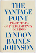 Books:Biography & Memoir, Lyndon Baines Johnson. INSCRIBED BOOKPLATE. The VantagePoint. Holt, Rinehart and Winston, [1971]. First edition, fi...