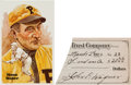Autographs:Checks, 1920 Honus Wagner Signed Check/Cut....