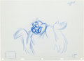 Animation Art:Production Drawing, The Little Mermaid Scuttle Production Drawing Animation Art(Walt Disney, 1989)....