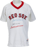 Baseball Collectibles:Uniforms, 1980's Ted Williams Three Times Signed Boston Red Sox Youth Jersey. ...