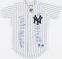 1998 New York Yankees Team Signed Jersey & Roger Clemens Signed Jersey