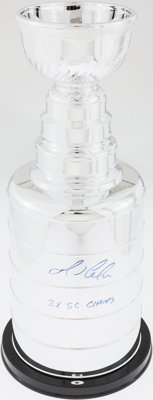 Mario Lemieux Signed Stanley Cup Replica Trophy - Steiner