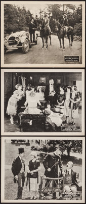 "A Perfect Villain & Other Lot (Fox, 1921). Lobby Cards (3) (11"" X 14""). Comedy. ... (Total: 3 Items)"