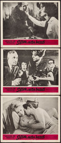 "Movie Posters:Sexploitation, Satan in High Heels & Other Lot (Cosmic Films, 1962). LobbyCards (3) (11"" X 14"") & One Sheet (27"" X 41""). Sexploitation..... (Total: 4 Items)"