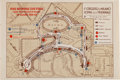 Transportation:Automobilia, Vintage Map Of Circuito Di Milano For 1936 Milano Grand Prix ...