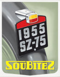 Automobilia, SOUBITEZ MOTORCYCLE LIGHTS ADVERTISING DESIGN ARTWORK BY ALEX KOW.1955. 14 x 11 inches (35.6 x 27.9 cm). Watercolor. ...