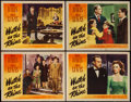 "Movie Posters:Drama, Watch on the Rhine (Warner Brothers, 1943). Lobby Cards (4) (11"" X 14""). Drama.. ... (Total: 4 Items)"