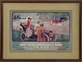 "Transportation, Reproduction 1920s Automobile Club De Milano ""Grande ConcorsoInternationale Di Turismo"" Framed Poster..."