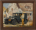 Transportation:Automobilia, 1920s Packard Painting--Unsigned...