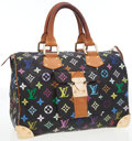 Luxury Accessories:Bags, Louis Vuitton Black Multicolore Monogram Canvas Speedy 30 Bag. ...