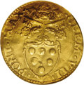 Italy:Papal States, Italy: Papal States. Clement VII gold Scudo del Sole ND, 1523-34Bologna, Berman 874, Friedberg 342, AU50 NGC, very cleardetails....