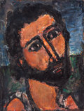 Fine Art - Painting, European:Modern  (1900 1949)  , GEORGES ROUAULT (French, 1871-1958). Saint-Jean Baptiste,circa 1931-39. Oil on paper laid on board. 20 x 15-1/4 inches ...