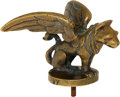 Transportation:Automobilia, Art Deco Mascot Of Winged Lion Marked XY...