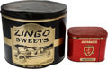 Transportation:Automobilia, Two Automotive Related Tins: Autobacco And Ten Pound ZingoSweets... (Total: 2 Items)