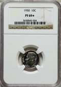 Proof Roosevelt Dimes: , 1950 10C PR69 ★ NGC. NGC Census: (1/0). Mintage: 51,386. NumismediaWs...