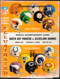 Football Collectibles:Programs, 1965 NFL Championship Game Program - Packers Vs. Browns. ...