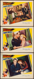 """Movie Posters:Comedy, Navy Blues (MGM, 1929). Lobby Cards (3) (11"""" X 14""""). Comedy.. ...(Total: 3 Items)"""