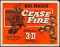 "Movie Posters:War, Cease Fire! (Paramount, 1953). Half Sheet (22"" X 28"") 3-D Style B.War.. ..."
