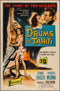 "Movie Posters:Adventure, Drums of Tahiti (Columbia, 1954). One Sheet (27"" X 41"") 3-D Style.Adventure.. ..."