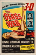 "Movie Posters:Crime, The Glass Web (Universal International, 1953). One Sheet (27"" X41"") 3-D Style. Crime.. ..."