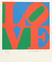 ROBERT INDIANA (American, b. 1928) The Book of Love: A Portfolio of 12 Original Poems and 12 Original Prints </...