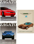 Transportation:Automobilia, Set of 3 Zagato Related Brochures / Magazines From 1980's ...(Total: 3 Items)