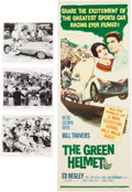 Transportation:Automobilia, The Green Helmet Movie Insert and 3 Photos / Thunder in CarolinaWindow Card ... (Total: 5 Items)