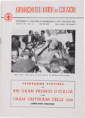 Transportation:Automobilia, Original Program For 1950 Italian Grand Prix - XXI Gran PremioD'Italia ...