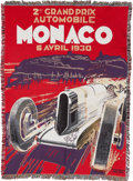 Transportation, Large Tapestry Based On Artist Robert Falcucci's 1930 Grand Prix OfMonaco Poster ...