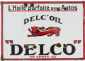 Advertising:Gas & Oil, Vintage French Delco Oil Porcelain Sign...