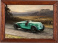 Transportation:Automobilia, Painting Of 1930s Auto Union Grand Prix Race Car Signed GuyLipscomb ...