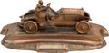 Transportation:Automobilia, Vintage Copper Race Car Desk Pen Set...