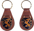 Transportation:Automobilia, Set Of Two Matching Cistalia Reproduction Key Fobs ... (Total: 2Items)