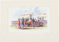 Transportation:Automobilia, Peter Hearsey Signed 1908 Grand Prix Print...