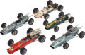 Transportation:Automobilia, Five Vintage German Schuco Formula 2 Wind Up Model Toy Racing Cars1:18 Scale ... (Total: 5 Items)
