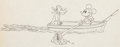 Animation Art:Production Drawing, Fishing Around Mickey Mouse and Pluto Production Drawing(Walt Disney, 1931)....