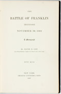 Books:Americana & American History, Jacob D. Cox. The Battle of Franklin Tennessee. New York:Scribner's, 1897. First edition. Publisher's black cloth w...