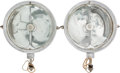 Transportation:Automobilia, Set Of Two Marchal Bugatti Headlamps For T35 And T37...