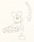 Animation Art:Production Drawing, Building a Building Mickey Mouse Production Drawing (WaltDisney, 1933)....