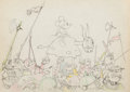 Animation Art:Production Drawing, Ye Olden Days Mickey Mouse Production Drawing (Walt Disney, 1933)....